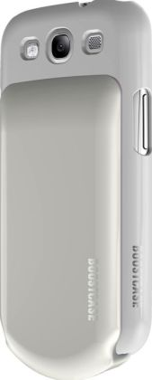 Boostcase Hybrid Snap-On Case & Detachable Extended Battery for Samsung Galaxy S3 - White