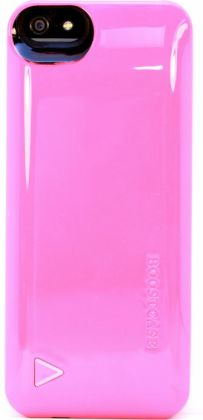 Boostcase Hybrid Snap-On Case & Detachable Extended Battery for iPhone 5 - Coral