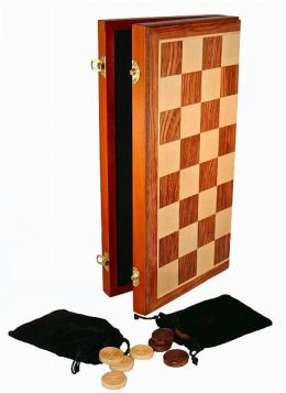 Checkers Foldable Wood Game