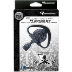Subsonic SUB911BHCO Black and White Camo Bluetooth Headset for PS3