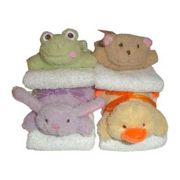 Animal Finger Puppets with Washcloths (set of 8)