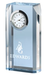 Chass 85048 Blue Mist Opti-Crystal Clock