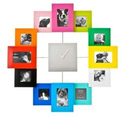 Photo Frames Clock Multi Color, 16