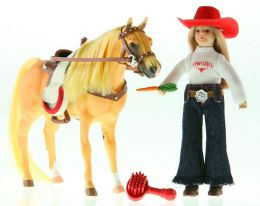 Paradise Horses POZ-ABLES Doll and Horse - Western Set