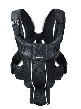 BabyBjrn Baby Carrier Synergy - Black, Mesh