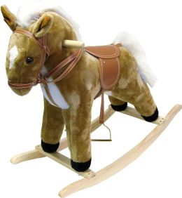 HAPPY TRAILST Plush Rocking Horse with Sound