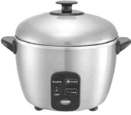 Sunpentown SC-889 10 Cup Stainless Steel Rice Cooker and Steamer