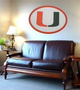 Adventure Furniture C0504-Miami University of Miami Logo Wall Art