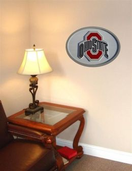 Adventure Furniture C0524-Ohio State Ohio State University 3D Logo Wall Art- 31 inch