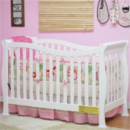 AFG Athena Nadia 3 in 1 Convertible Crib with Toddler Rail - White - 6005W