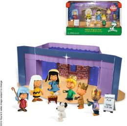 Peanuts Mini Figure Set with Fold Out Christmas Play Stage: Peanuts Mini Figure 9 Piece Set