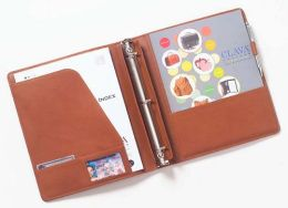 Clava 00-3000 Open 3 Ring Binder - Bridle Tan