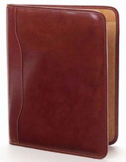 Clava 92095B Tuscan Slim Padfolio - Glazed Cognac