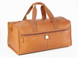 Clava A21CAFE Large Leather Square Duffel - Cafe