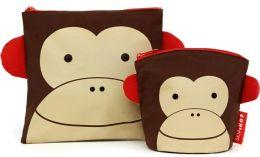 Zoo Reusable Sandwich & Snack Bag Set - Monkey