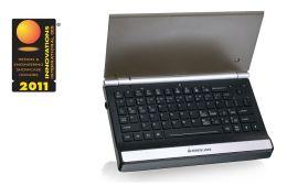 Iogear GKM571R 2.4GHz Multimedia Mini Keyboard with Optical Trackball and Scroll Wheel