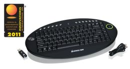 Iogear 2.4GHz Wireless On-Lap Keyboard with Optical Trackball and Scroll Wheel
