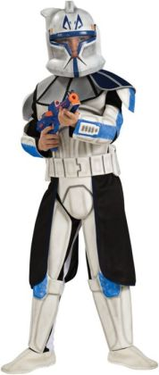 Star Wars Animated Deluxe Clone Trooper Leader Rex Child Costume: Size Small