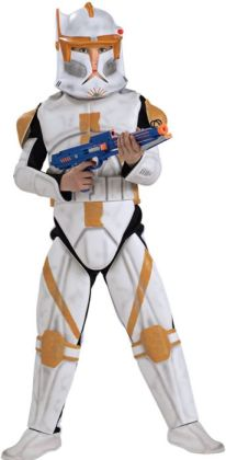 Star Wars Animated Deluxe Clone Trooper Commander Cody Child Costume: Size Large