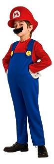 Super Mario Bros. - Mario Deluxe Child Costume: Size Medium (8/10)