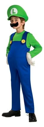 Super Mario Bros. - Luigi Deluxe Child Costume: Size Small (4/6)