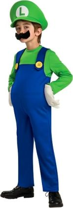Super Mario Bros. - Luigi Deluxe Child Costume: Size Large (12/14)