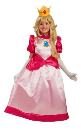Super Mario Deluxe Princess Peach Child Costume: Size Large (12-14)