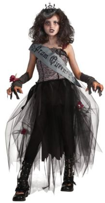 Goth Prom Queen Child Costume: Medium