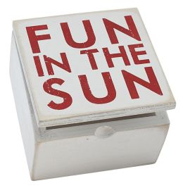 Fun in the Sun White and Red Box Sign Box 4