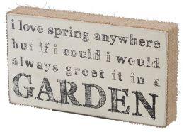 Spring Garden Burlap Box Sign (10.5