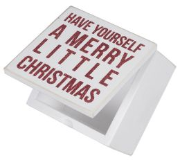 Have Yourself a Merry Little Christmas Red Box Sign Box 4