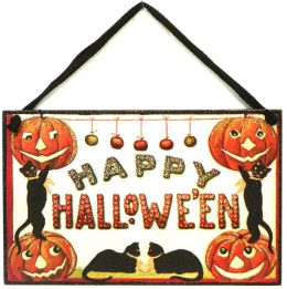 Hanging Halloween Vintage Door Sign 6.5