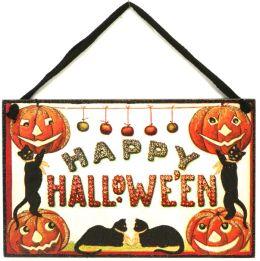 Hanging Halloween Vintage Door Sign 6.5