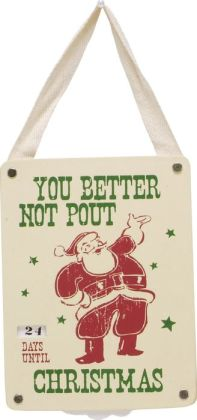You Better Not Pout Countdown Hanging Door Sign 4