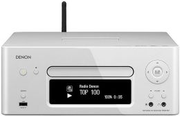 Denon RCD-N7 White Wi-Fi Network Ready Receiver AM/FM/CD Player with Integrated iPod Dock
