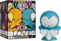 Kidrobot 4 Inch Vinyl Figure, Lovebirds Teal Edition