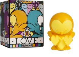 Kidrobot 4 Inch Vinyl Figure, Lovebirds Orange Edition