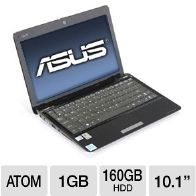 ASUS Eee PC 1001P-MU17-BU Refurbished Netbook - Intel Atom N450 1.66GH