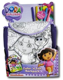 Dora the Explorer Color N Fun Backpack