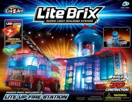 Crazy Art Lite Brix Fire Station & Truck