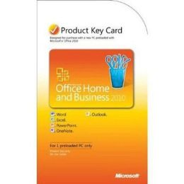 Microsoft Office Home & Business 2010 Product Key Card (No Media) Software