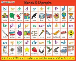 Childcraft Literacy Charts Blends & Digraphs - 9 x 11 inch - Set of 25