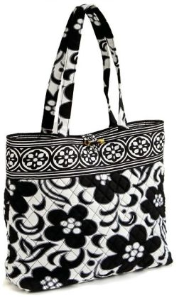 Vera Bradley Night & Day Fabric Book Tote 11.75