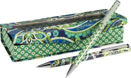 Vera Bradley Rhythm & Blues Pen and Pencil Set