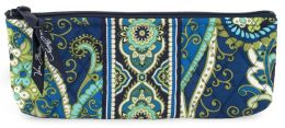 Vera Bradley Rhythm & Blues Blue Brush & Pencil Case