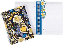 Vera Bradley Ellie Blue Spiral Notebook Journal (6x8.25)