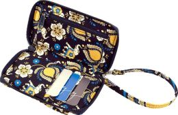 Vera Bradley Ellie Blue All in One Wristlet (3x5.25x.75)