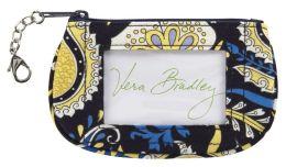Vera Bradley Ellie Blue Clip Zip ID Case (5.5x3.25)