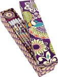 Product Image. Title: Vera Bradley Plum Crazy Pencil Box - 10 Pencils and Sharpener