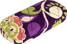 Vera Bradley Plum Crazy Hard Eyeglass Case 6'' x 7.25''
